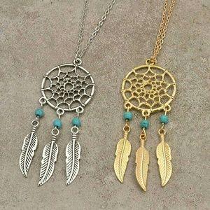 New! Boho Feather Dream Catcher Pendant Necklaces