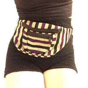 Baja Tribal Print Fanny Pack Bum Belt Bag Mexican