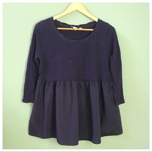Anthro Plum Babydoll Top