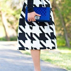 Chicwish  Dresses & Skirts - NWT Houndstooth Midi Skirt