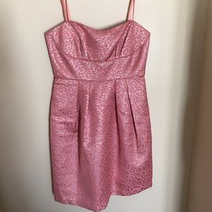 BCBGMaxAzria Dresses & Skirts - Pink and silver cocktail dress
