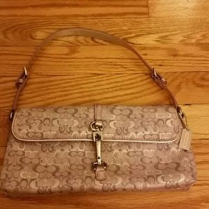 Coach lilac bag worn once