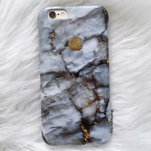 B-Long Boutique  Accessories - Gray and gold marble iPhone 7 Plus phone case