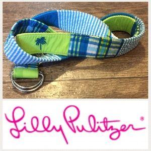 Lilly Pulitzer Accessories - Lilly Pulitzer Vintage Belt Seersucker Blue