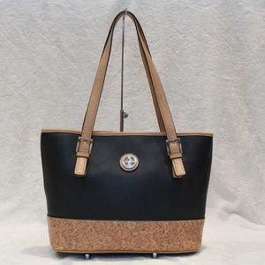 Giani Bernini Handbags - Giani Bernini Saffiano Medium Tote Blackcork
