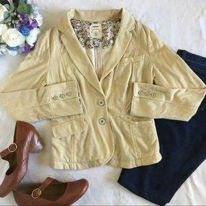 Anthropologie Jackets & Blazers - Allihop Natty pin striped blazer w/floral lining