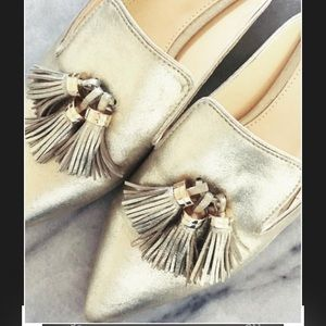 Ivanka Trump Shoes - 🔥Ivanka Trump SEXY Gold MuleswTassels(all sizes)