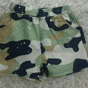 Other - Green Camouflage distressed Shorts. Kids