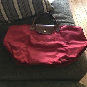 Longchamp Handbags - Red Le Pliage Longchamp Short handle tote bag