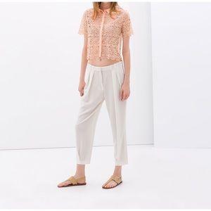 HOST PICK NWT Zara white trouser pants