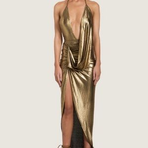 Dresses & Skirts - Gold metallic dress