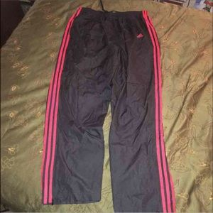 ADIDAS classic stripe track pants sz XL