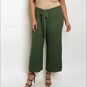 Pants - PLUS wide leg bow pant