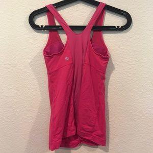 lululemon athletica Tops - Lululemon pink racer back workout top