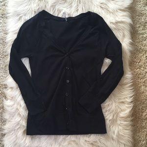 Soft black cardigan