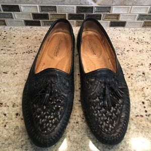 Santoni Other - SANTONI Mens Slip On Woven Leather Dress Shoes
