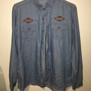 Foreign Exchange Other - Light blue button up