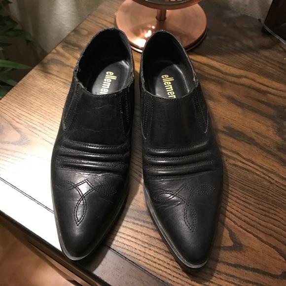 98bbb7906e0 ellemenno Shoes - Ellemenno black leather western ankle Chelsea boot