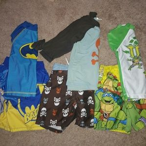 Other - 3 3t Boys Swimsuits with FREE rash guards