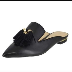 Ivanka Trump Shoes - 🔥Ivanka Trump BLACKLeatherMulesTassels (AllSz)NIB
