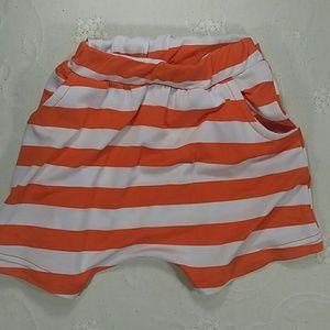 Other - Orange Stripes Harem Shorts. Kids