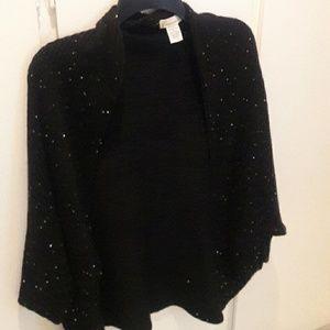Black poncho or shrug sweater