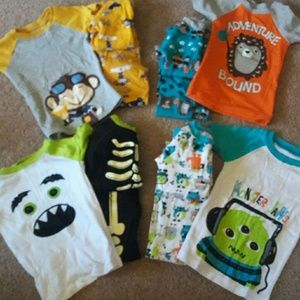 Other - 5 Boys Pajama Sets with short AND long sleeves!