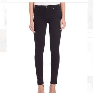 7 for all Mankind Black Skinny Jean