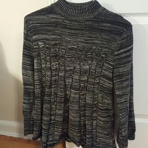 Style & Co Sweaters - Style & Co. Black/gray spacedye a line sweater