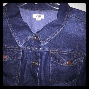 0148dd5ee6c25 Cato Fashions Jackets   Coats - Cato Fashions Plus Size Denim Jacket Size  26 28