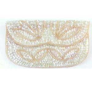 Handbags - Vintage Faux Pearl Clutch Purse