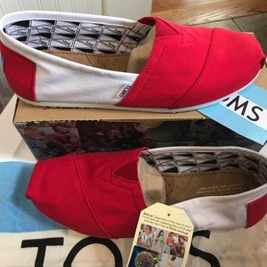TOMS Other - Classics Red and White Toms shoes