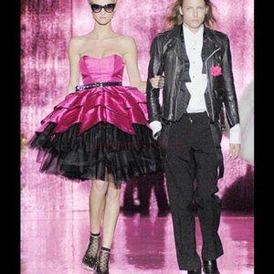 Dresses & Skirts - Betsey Johnson pink black plaid tulle dress tutu