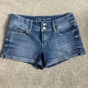 Victoria's Secret Pants - VS Hipster Distressed Denim Shorts