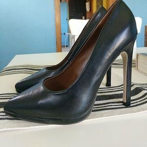 Pierre Dumas Shoes - Matte Black Stiletto High Heels Pumps