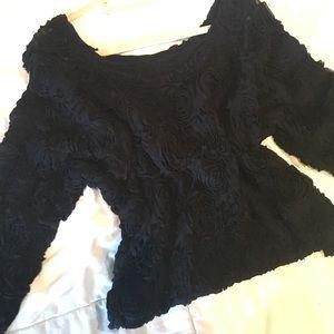 American Apparel Sweaters - 3D Flower Mesh sweater! American Apparel