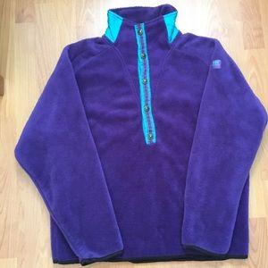Helly Hansen Other - Vtg. 80s Helly Hansen Purple Polyester Snap Fleece