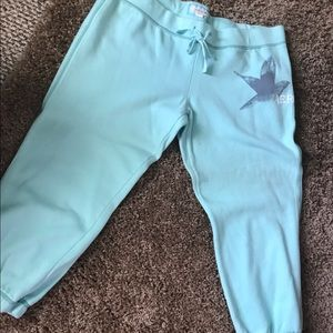 Aerie Large Teal Capri Sweatpants American Eagle
