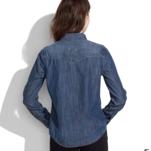 43 off madewell tops madewell denim snap button up for Mens shirts with snaps instead of buttons