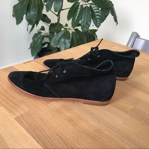 Pencey Shoes - Penney Black Suede Desert Boot Shoe