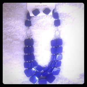 Sophia & KateCobalt Blue Set Necklace/Earrings