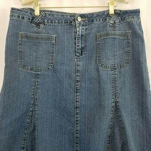 b841dc1a5a9a4 Cato Skirts - Cato Women s Plus Long Pleated Denim Skirt