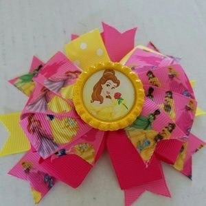 Other - 3 for $10 sale! Belle Beauty and the Beast Hairbow