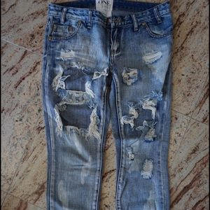 One teaspoon trashed free birds- size 27