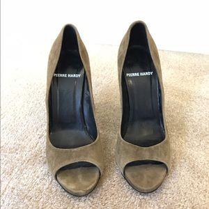 Pierre Hardy Shoes - Authentic PIERRE HARDY suede peep toe heels