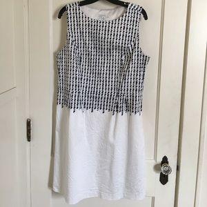 Isaac Mizrahi Dresses & Skirts - Isaac Mizrahi Live Dress Size 14 Navy / White