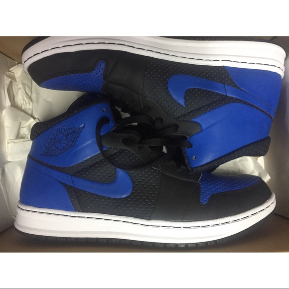 huge selection of a0d1c a7f1a Nike Air Jordan Alpha 1 Blue Black Men Sneaker. M 58e92fd478b31c2b1e04466a