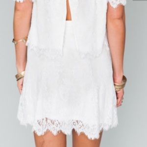 Show Me Your MuMu Dresses & Skirts - SHOW ME YOUR MUMU white lace skirt