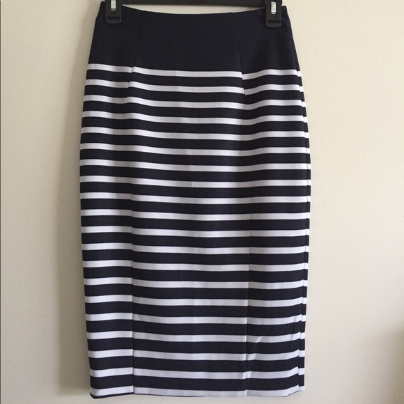 74 h m dresses skirts navy and white striped