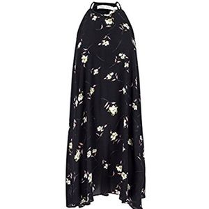 New high neck shift dress print black floral